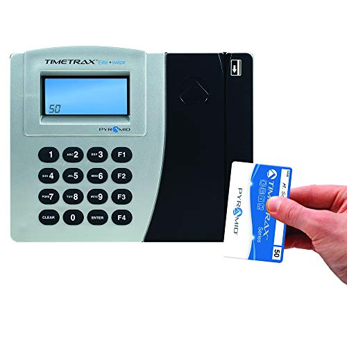 Pyramid TimeTrax Elite PSDLAUBKK Automated Swipe Card Time Clock System with Software - Made in USA by Pyramid Time Systems (Image #3)