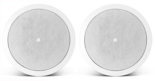 JBL Control 26CT - Ceiling Speaker 6.5 Inch 70V 100V Multi Tap Transformer 19mm Tweeter (White, Pair)