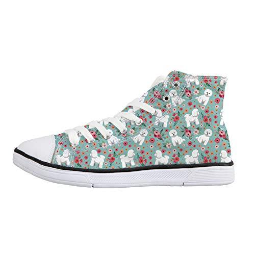 Coloranimal Frise Flower Stivaletto a Donna Pantofole Bichon r87xnr