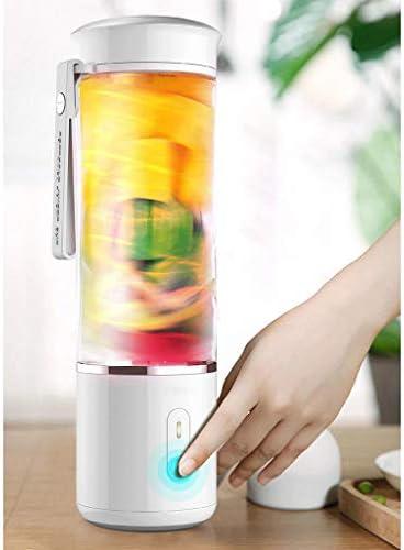 Amuzocity 500ML Exprimidor Portátil Mezclador De Corte Multifunción USB Charging 6 Blender