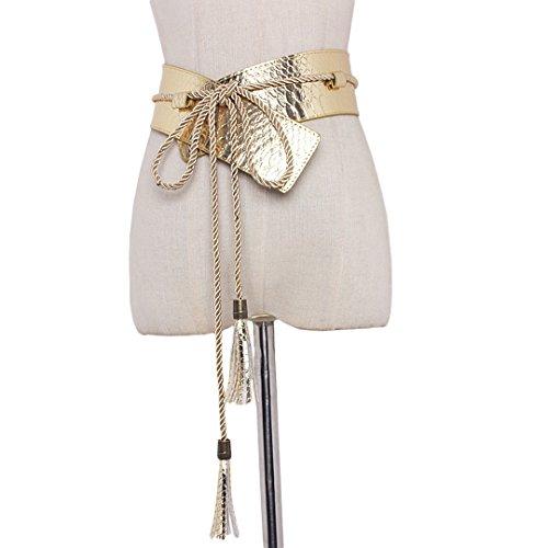 Gabrine Womens Fashion PU Leather Waist Belt Waistband Waist Strap Girdle Belt for Dress Blouse