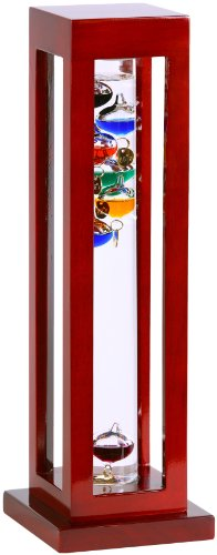 Thermometer Cherry - G.W. Schleidt YG824-C Galileo Thermometer Square Cherry Finish Multicolored