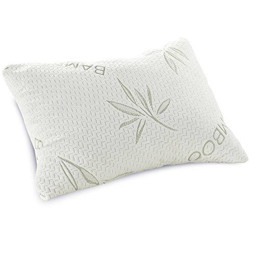 Classic Pillow Bamboo (Classic Brands Shredded Memory Foam Pillow with Bamboo-Rayon Cover, Queen)