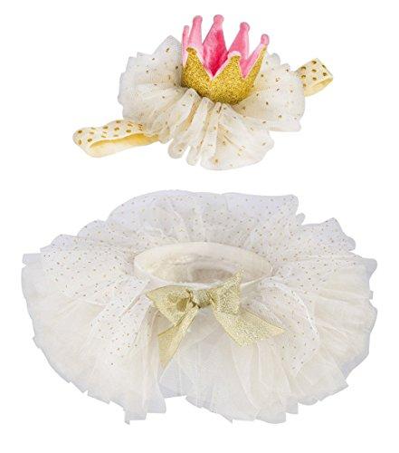 Baby Girls' Tutu Skirt for Newborn Toddler Dress up White S: 0-6 (Fairy Princess Costumes Toddler)