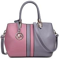 Ladies Handbag Pu Artificial Leather Shoulder Bag Light Grey