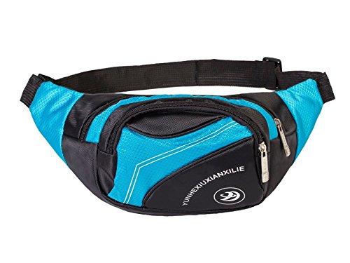 POSTEN 10 X Bauchtasche, Gürteltasche Sport Hüfttasche, Waist Bag Fächer Tasche