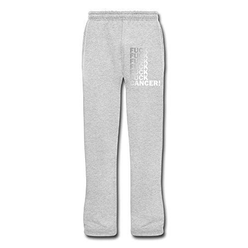 Lbuxinqu Fck Cancer Men's Workout Pants M Ash