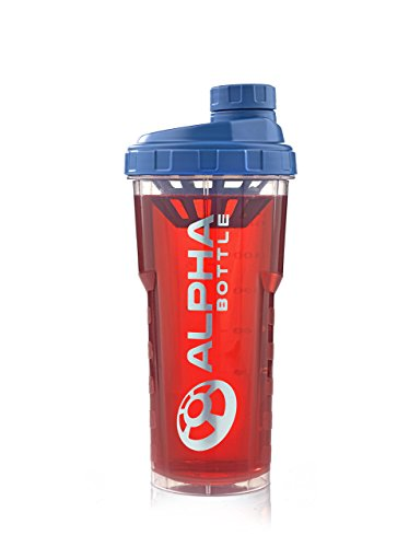 Price comparison product image Alpha Bottle 25 Oz. no BPA or DEHP Protein Shaker - Blue