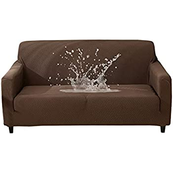 Amazon Com Hotniu Waterproof Stretch Sofa Couch Covers