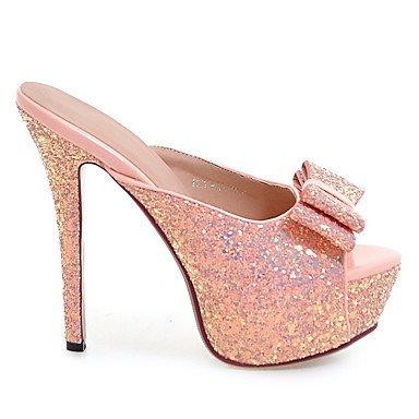LvYuan Mujer-Tacón Stiletto-Zapatos del club-Sandalias-Boda Vestido Fiesta y Noche-Materiales Personalizados-Negro Rosa Blanco Plata Oro Silver