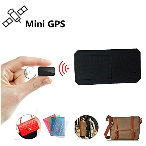 Winnes Small Gps Tracker for Kids Elderly Wallet GSM GPS Real Time Outdoor Anti Lost GPS Tracker Locator With App for…
