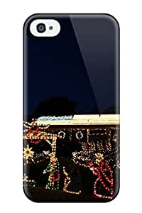 For Iphone 4/4s pc Phone Case Cover(holiday Christmas)