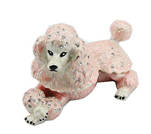 Vintage Pink Poodle Trinket Box with Vintage Rhinestone (Poodle Pink Rhinestone)