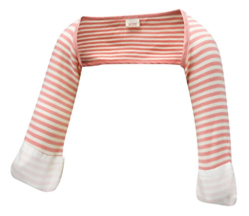 ScratchSleeves | Baby Girls' Stay-On Scratch Mitts Stripes | Pink and Cream...
