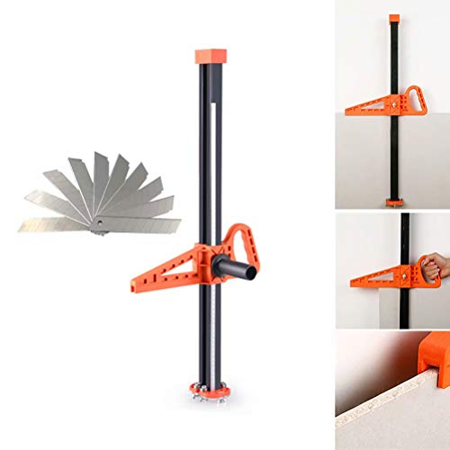 Drywall Board - Manual High Accuracy Portable Gypsum Board Cutter, Hand Push Drywall Cutting Artifact Tool with Double Blade,4 Bearings(Cutting Range 20-600mm )10pcs blades bonus