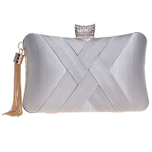 femmes Zanpa mode Handbag 3 argent embrayages F1B1W40q