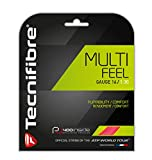 Tecnifibre Multifeel Multifilament Tennis Racquet String Sets – 16 and 17 Gauge in Pink Color – in Multi-Packs – Best for Comfort and Feel (2-4-6-8-Packs)