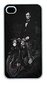 IPhone 4S Cases Biker Lincoln Polycarbonate Hard Case Back Cover for iPhone 4/4S White by lolosakes by lolosakes