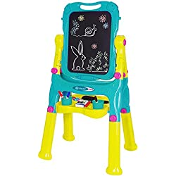 NextX Kids Double Sided Adjustable Standing Art Easel Chalkboard and Magnetic Dry Erase Board,Drawing Set Art Supplies Accessories Learning Play for Toddlers Boys Girls