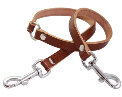 Genuine Leather Double Dog Leash