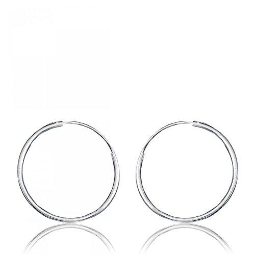 Boucles d'oreilles Créoles Argent 2.5 cm