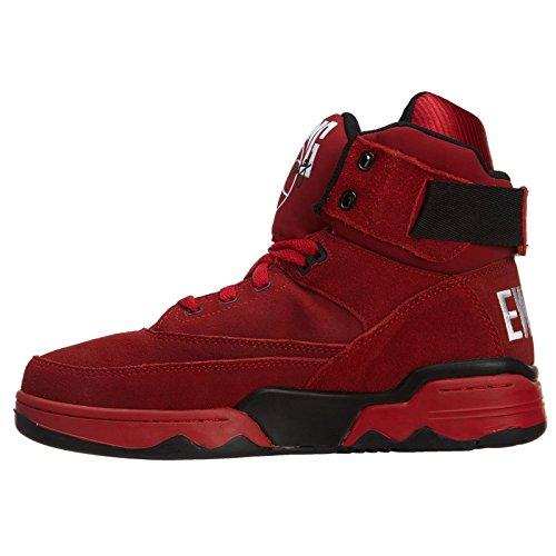 b051099dbcd Ewing Athletics Patrick Ewing 33 HI Mens Basketball Shoes 1EW90013-601 Red  Black-White