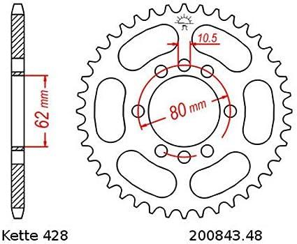 Kettensatz Geeignet Für Yamaha Dt 80 Lc I 83 84 Kette Rk 428 H 120 Offen 15 48 Auto