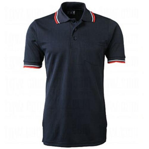 (CHAMPRO Umpire Polo Shirt; Adult Navy, Large)