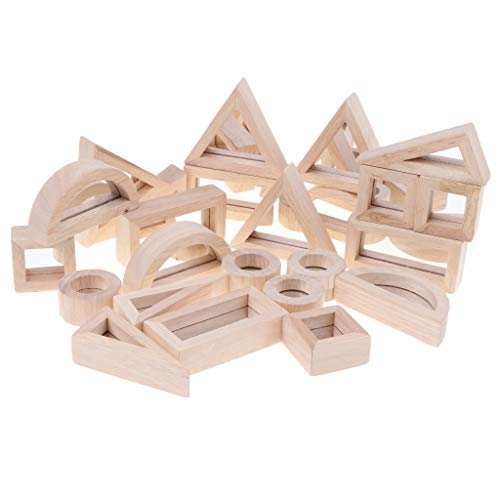 - CUTICATE 24pcs Mirror Blocks Wooden Stacking & Building Blocks Educational Toy, Creative Toy, Kids Children Intelligence Game, Play Activity Center