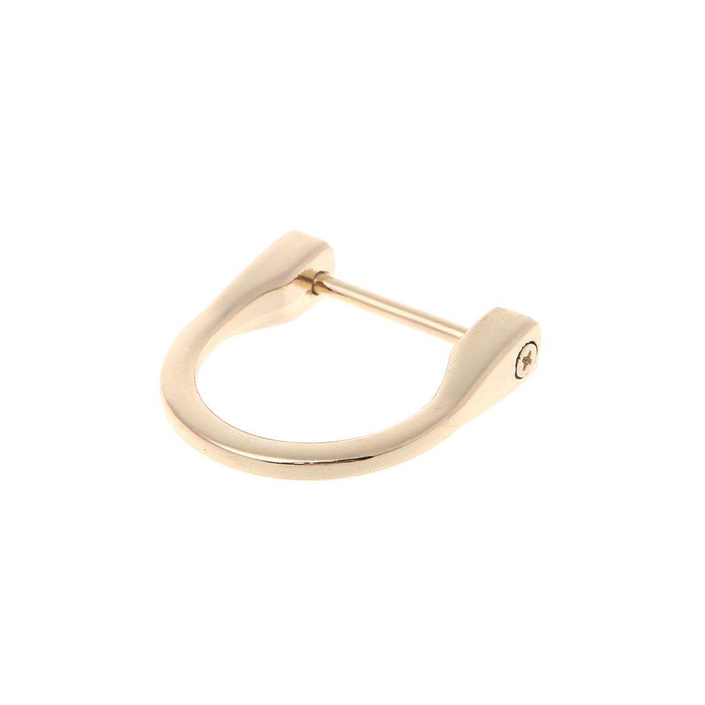 ESden Sangle de sac /à main amovible en m/étal avec anneau en D 2,5 cm one Silver