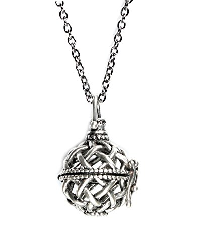 Prayer Locket (Wish Locket Pendant Necklace Opens to Add Wishes, Secrets, Prayers on 26 Inch Chain in Gift Box)
