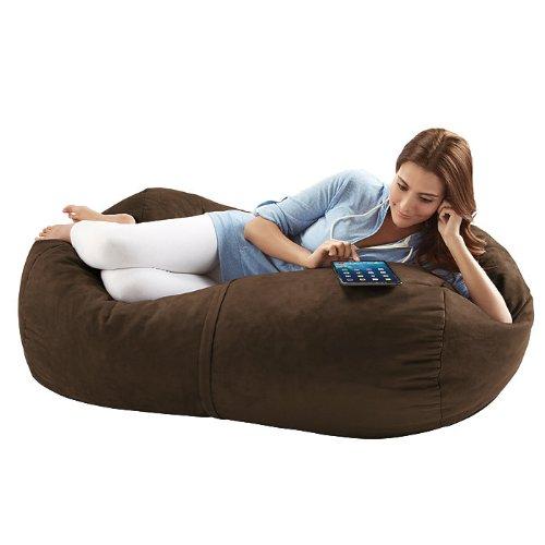 Jaxx Sofa Saxx Bean Bag Lounger, 4-Feet, Chocolate Microsuede