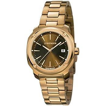 Wenger 01-1121-105 Ladies Edge Index Rose Gold Plated Bracelet Watch