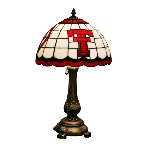 NCAA Texas Tech Red Raiders Tiffany Table Lamp