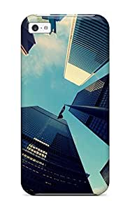 fenglinlinBXauzcN2533Drkmz Case Cover Protector For Iphone 5c Fisheye View Of Skyscrapers Iphone 5 Case