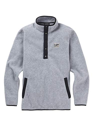 Burton Men's Hearth Fleece Pullover, Gray Heather, Large