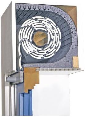3T-Motors Buzón aislamiento Tri de Flex de TF con aislamiento acústico de 25 mm de cierre tapa 175 mm: Amazon.es: Bricolaje y herramientas