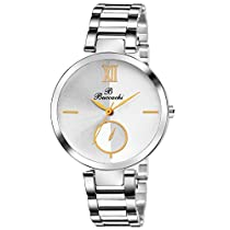 Buccachi analouge white dial watches water watches women