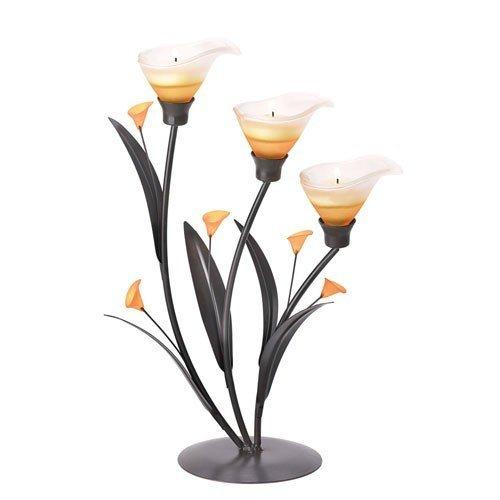 (Malibu Creations Calla Lily Trio Candleholder)