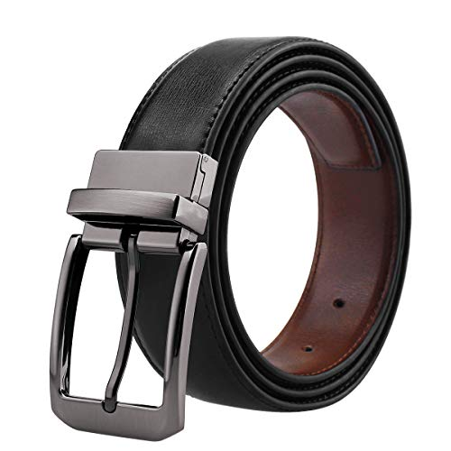 - Belts for Men Genuine Leather Dress Belt Reversible with 1.3