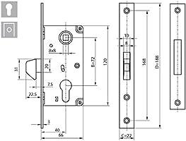 KOTARBAU 72/40 - Cerradura de gancho para puerta corredera ...