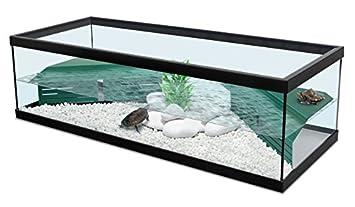 Tortum 100 - Acuario para tortugas de agua, color negro, incluye filtro: Amazon.es: Productos para mascotas