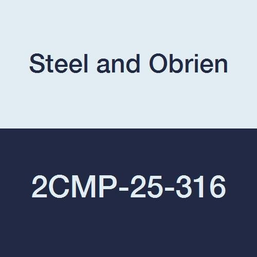 Steel and Obrien 2CMP-25-316 Stainless Steel Clamp, 90 degree Elbow, 2-1/2