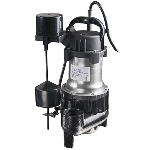 Lanchez Q450B82V Stainless Steel and Cast Iron Submersible Sump Pump Sewage Pump With Float Switch for Dirty Water by Lanchez
