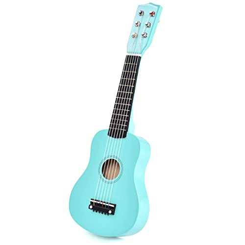 Goplus 21'' Beginners Kids Acoustic Guitar 6 String with Pick Children Kids Musical Gift (Light Blue) by Goplus
