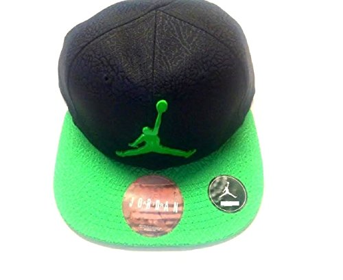 Air Jordan Jumpman Elephant Print Black/Green Adjustable Boy's Cap 12/24M