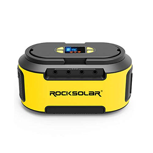 ROCKSOLAR Portable Power Station with Dual LED Flashlight, 222Wh Lithium Battery, 200W AC, USB, and DC Output ROCKSOLAR