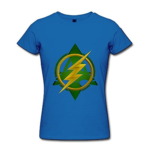 Women's Arrow Vs The Flash Tv Logo T-shirt Size XXL RoyalBlue (Jake Owen Shirt In Days Of Gold)