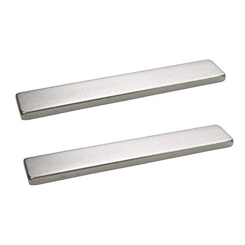totalElement Super Strong Industrial Grade 3 x 1/2 x 1/8 Inch Neodymium N48 Bar Magnet (2 Pack)