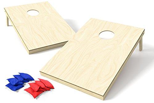 Backyard Champs 2' x 3' Wood Cornhole Set (8 Regulation Bags Included) - Polyurethane Set